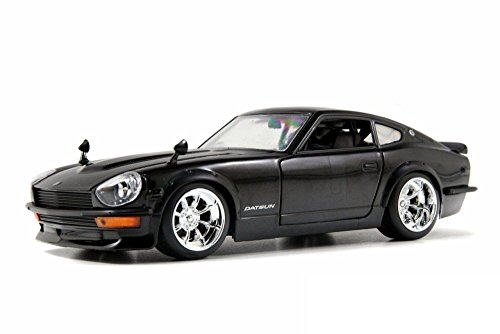 New 1:24 DISPLAY BIG TIME MUSCLE - BLACK 1972 NISSAN DATSUN 240Z Diecast Model Car By Jada Toys (Datsun 240z Model Car compare prices)