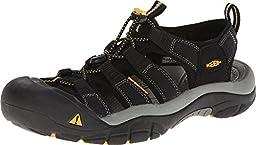 Keen Men\'s Newport H2 Sandal,Black,10 M US