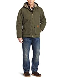 Carhartt Men\'s Jackson Coat Sherpa Lined Sandstone,Army Green,X-Large
