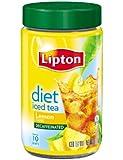Lipton  Iced Tea Mix, Diet Decaffeinated Lemon ,3 Ounce(Pack of 4)