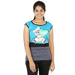 Knit Abc Garments Women's Character Top(KA-WTOP-HTG-20-BL-SBU-S_Multicolor_Small)