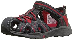 Merrell Hydro Junior Water Sandal (Toddler), Grey/Red, 5.5 W US Toddler