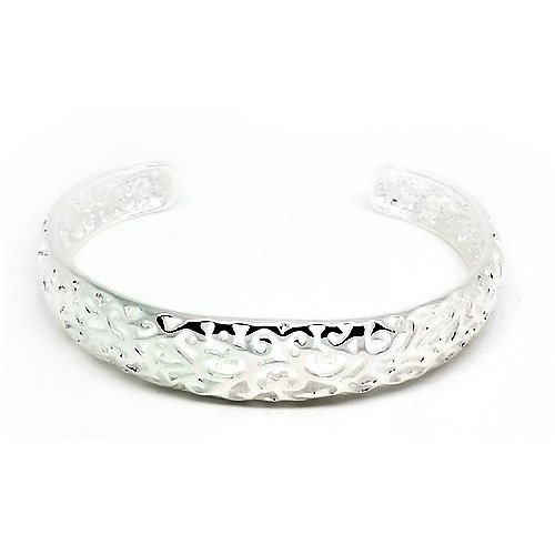 Top Value Jewelry - Lovely 925 Sterling Silver Swirl Bangle For Women- Beautiful Bangle!