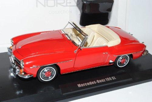 Mercedes-Benz 190SL Cabrio Rot W121 1955-1963 1/18 Norev Modell Auto