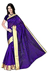 Monika Fashion Women's Cotton and Silk Saree - mf14_Blue