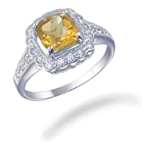 Vir Jewels Sterling Silver Citrine Ring (1.10 CT) from Vir Jewels