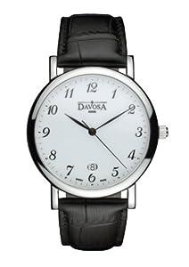 Davosa Herren-Armbanduhr Analog Edelstahl weiss 16241126