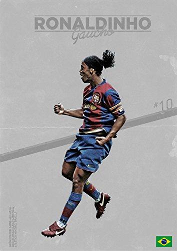 ロナウジーニョ ポスターサイズ:42x30cm 写真 Ronaldinho FCバルセロナ Barcelona ブラジル [並行輸入品]