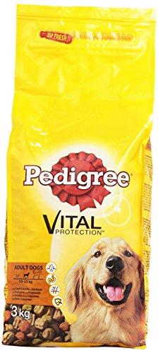 Pedigree - Alimento Completo Per Cani Adulti, Vital Protection, Con Carni Bianche E Verdure - 3000 G