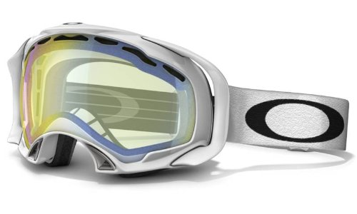 Oakley Unisex-Adult Splice Snow Goggles (Polished White w/ HI Yellow, One Size)