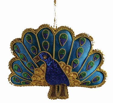 Heirloom Quality Handcrafted Peacock Christmas Ornament