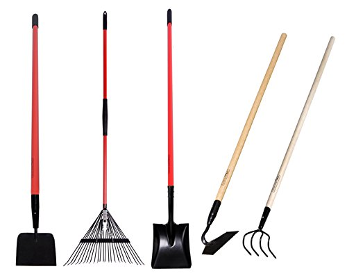 Garden all 5 piece long handled garden tools set include for Long handled garden tools