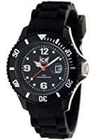 ICE-Watch - Montre Mixte - Quartz Analogique - Ice-Forever - Black - Small - Cadran Noir - Bracelet Silicone Noir - SI.BK.S.S.09
