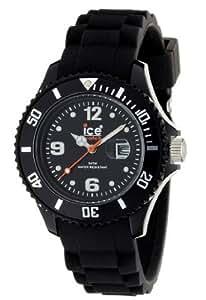ICE-Watch - Montre Mixte - Quartz Analogique - Ice-Forever - Black - Small - Cadran Noir - Bracelet Silicone Noir - SI.BK.S.S.09