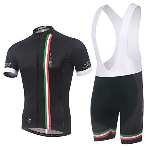 Ateid Abbigliamento Ciclismo da Uomo Maglia da Bicicletta + Short Imbottito Italia M
