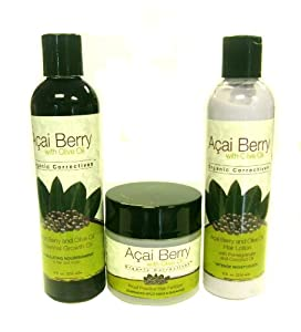 Amazon.com : Acai Berry with Olive Oil Hair Lotion, Growth ...