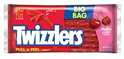 TWIZZLERS PULL \'N\' PEEL Cherry Candy (28-Ounce Packages, Pack of 4)
