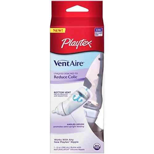 Playtex Ventaire Advanced 9 oz Bottle, Medium Flow Nipple EACH (Pack of 6) - 1