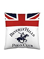 Beverly Hills Polo Club Funda De Cojín Madison (Blanco / Rojo)