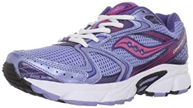 Saucony Women's Grid Cohesion 5 Running Shoe,Blue/Pink,5 M US