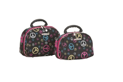 Rockland Luggage Rockland 2 Piece Cosmetic Set, Peace, One Size