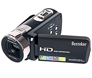 Camera camcorders, Besteker Portable 1080P 24MP Digital 16X Digital Zoom Video Camcorder with 2.7