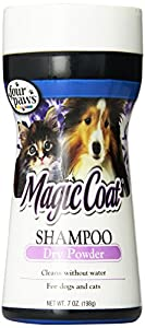 Four Paws Magic Coat Dog and Cat Grooming Shampoo Powder, 7oz