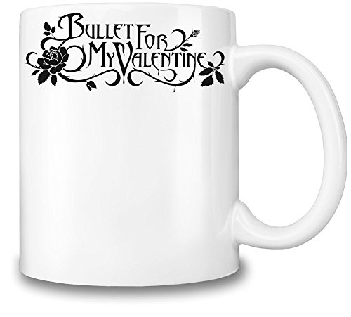 Bullet For My Valentine Black Logotype Tazza Coffee Mug Ceramic Coffee Tea Beverage Kitchen Mugs By Genuine Fan Merchandise