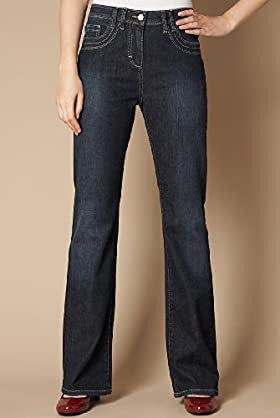 Cotton Rich Contrast Stitch Bootleg Jeans - Marks & Spencer