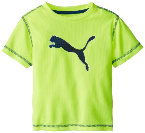 Puma Little Boys' Toddler Pixel Cat T-Shirt, Safety Yellow, 3T back-956950