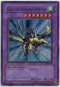 Yu-Gi-Oh! - Gaia the Dragon Champion (LOB-125) - Legend of Blue Eyes White Dragon - Unlimited Edition - Secret Rare (Gaia The Dragon Champion Lob compare prices)