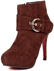 TEN Brown Suede KitTEN Heeled Boots