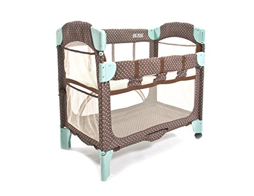 Arm's Reach Concepts Mini Arc Co-Sleeper Print without Skirt, Java Dot