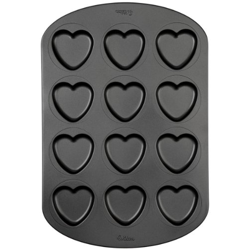 Wilton Nonstick 12 Cavity Heart Whoopie Pie Pan (Heart Shaped Cookie Pan compare prices)