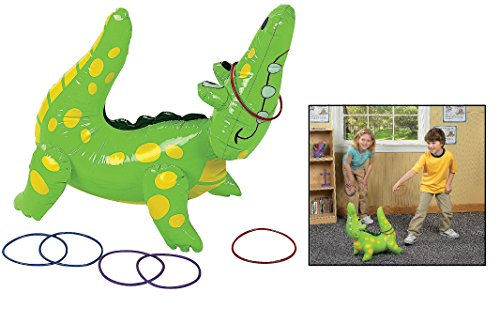 "Fun Express Inflatable Alligator Ring Toss Game, 22"", Vinyl"