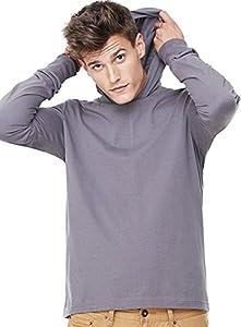Bella Canvas Men's Jersey Long Sleeve Hoodie Large Asphalt