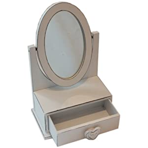 Childrens Small Aged Look Dressing Table Mirror With