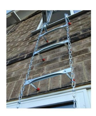 "Saf-Escape - 4-5 Story 45 ft Portable Fire Escape Ladder 10"" Thick Wall - Tangle Free Steel Chain - model # 1045"