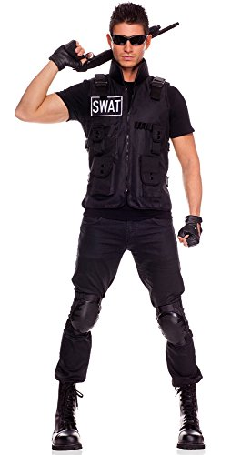 [Men's SWAT Commander Costumes] (Swat Vest Costume)