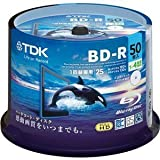 TDK 録画用ブルーレイディスク ハードコート仕様 BD-R 25GB 1-4倍速 ホワイトワイドプリンタブル 50枚スピンドル BRV25PWB50PA