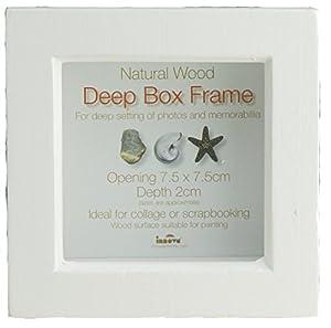 innova cadre profond en bois peint pour objet blanc 7 6 x 7 6 cm cuisine maison. Black Bedroom Furniture Sets. Home Design Ideas