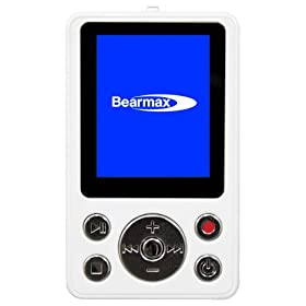 クマザキエイム Bearmax ポータブルデジタルオーディオプレーヤー/レコーダー 【デジらく】 2GB ホワイトシルバー DPR-526