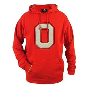 Ohio State Buckeyes Mens Scarlet Block Lightweight Hooded Sweatshirt by J. America