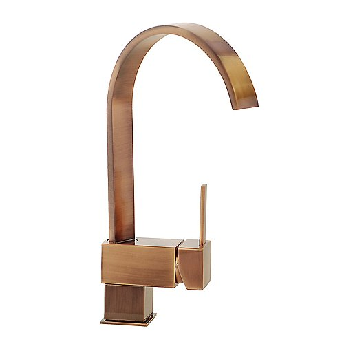 Hot Deals FREUER Organica Collection Modern Kitchen Wet Bar Sink - Antique copper kitchen faucets