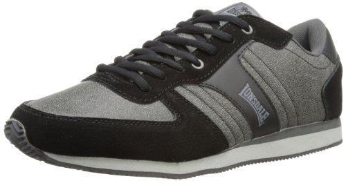 Lonsdale Mens Coniston Distress Multisport Shoes LMA433 Black/Charcoal 12 UK, 46 EU
