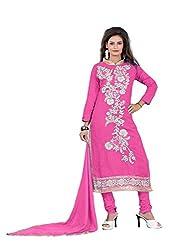 Nilkanth Enterprise Pink Cotton Dress Material