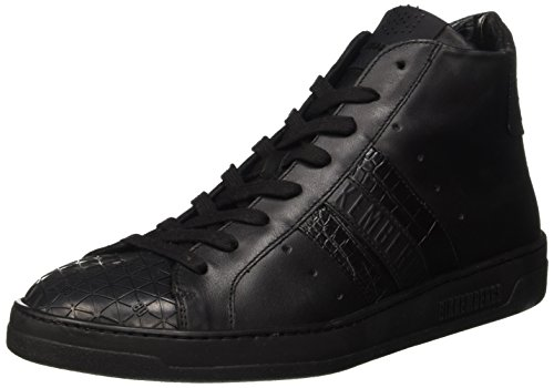 Bikkembergs Bounce 699 Mid Shoe M Leather, Scarpe a Collo Alto Uomo, Nero (Black (Croco Print)), 44 EU