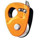 Petzl Micro Traxion Ultralight Progress Capture Pulley (Color: Yellow, Tamaño: One Size)