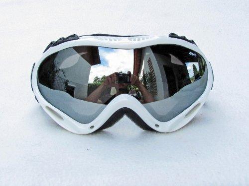 Alpland Skibrille Snowboardbrille Silver Lens Weiss! Goggle