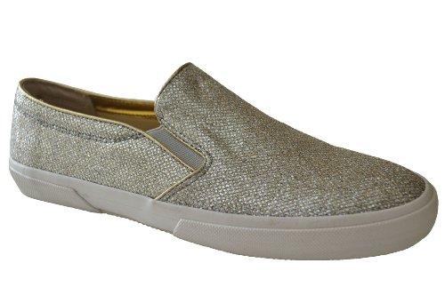 Michael Kors Women'S Boerum Slip On Silver Lea Sneakers Shoe Us 9.5 B(M)